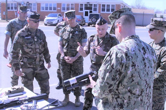 French Gendarmerie Nationale (GN) Visits the JNLWD