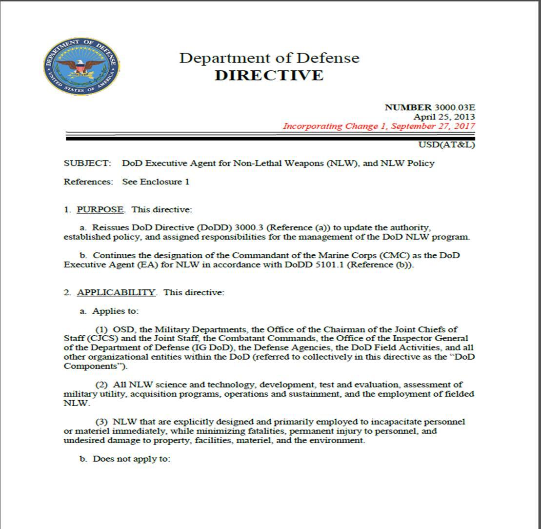 Non-Lethal Weapons Program > Resources > Publications