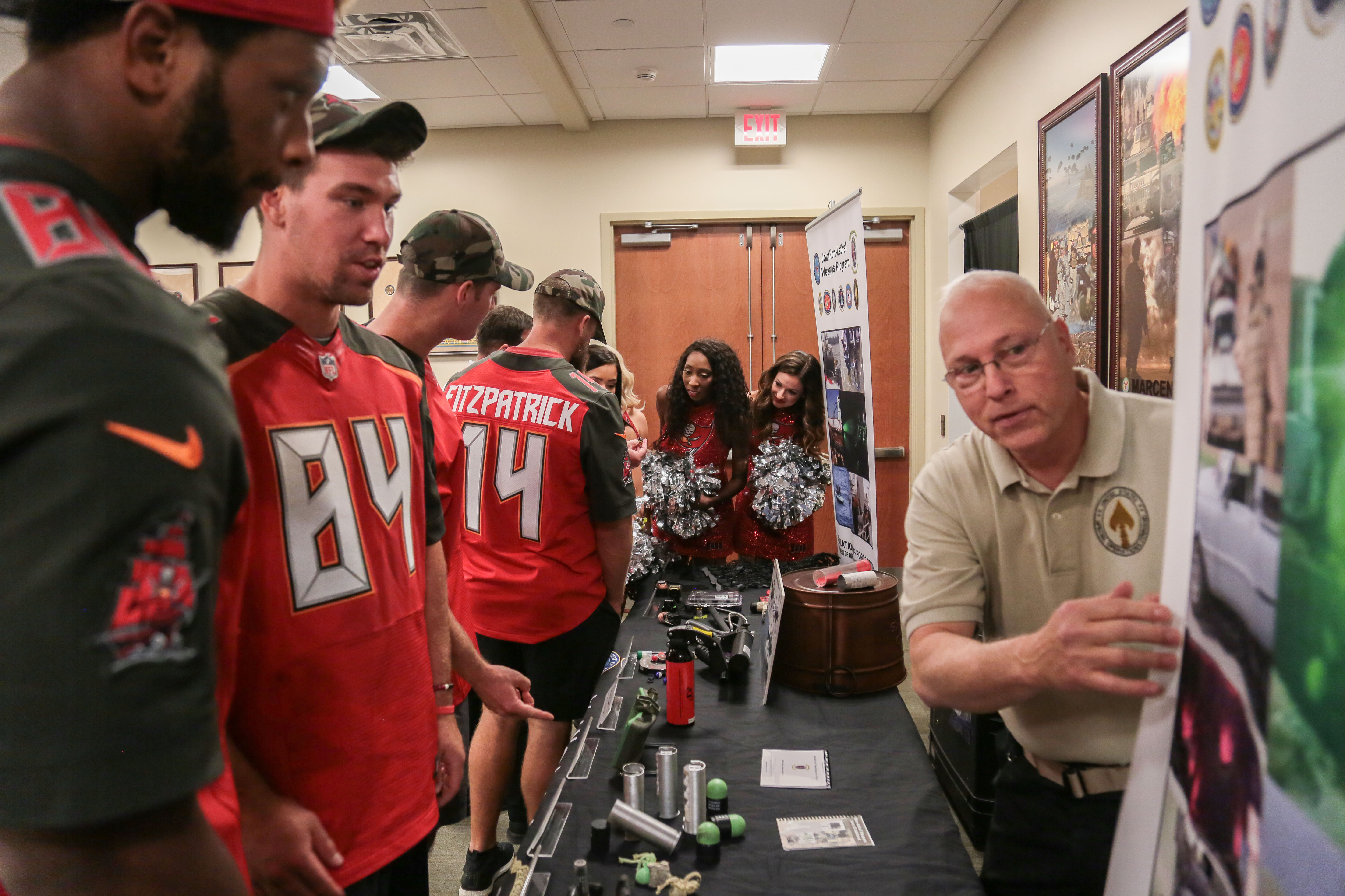 Non-Lethal Weapons Demonstrated to Tampa Bay Buccaneers