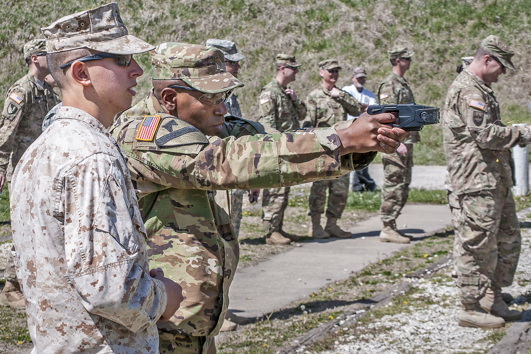 TASER<sup>&reg;</sup> Familiarization Firing at Non-Lethal Weapons Elective Course